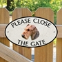 Picture of Please Close The Gate Sign, AIREDALE TERRIER