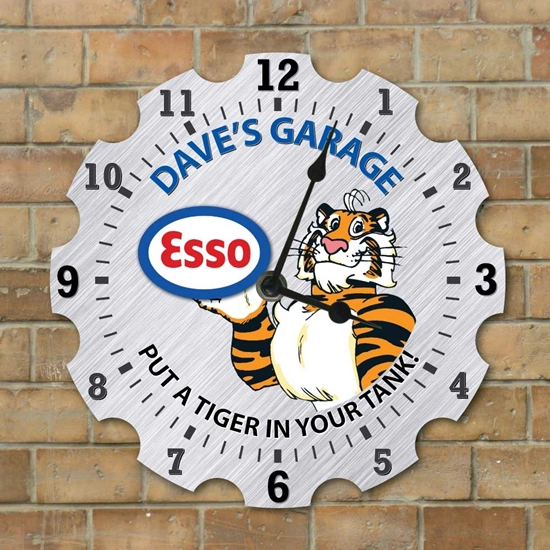 Picture of Personalised Garage Clock, Esso