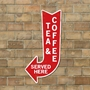 Picture of Tea & Coffee Served Here Arrow Sign