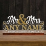 Picture of Illuminated LED Mr & Mrs Table Sign