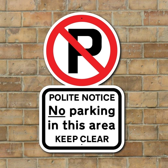 Picture of Outdoor NO PARKING Sign