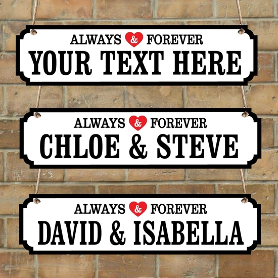 Picture of Personalised Sign Valentines Day Gift