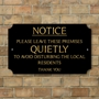 Picture of Pub Bar Restaurant Keep Quiet Sign