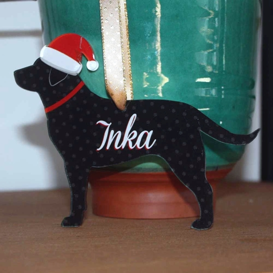Picture of Dog Bauble Xmas Decoration - Labrador