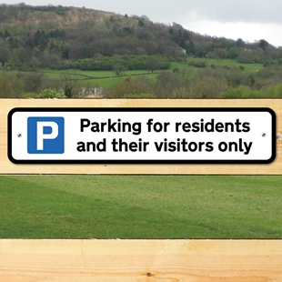 Picture of Residents Parking sign