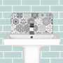 Picture of Grey Patterned Tile Basin Splashback