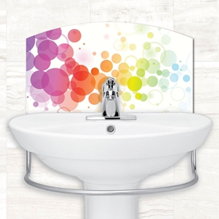 Picture of Colourful Bubbles Tile Basin Splashback