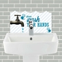 Picture of Wash Your Hands Tile Basin Splashback