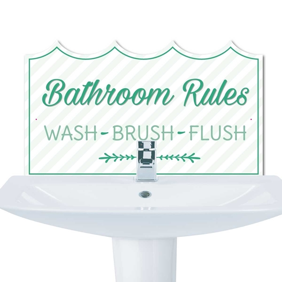 Picture of Basin Splashback, WASH BRUSH FLUSH