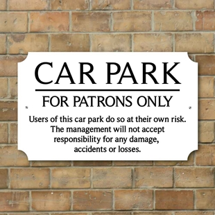 Picture of Pub Car Park Sign - Patrons Only