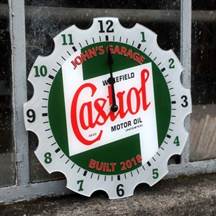 Picture of Personalised Garage Clock Castrol