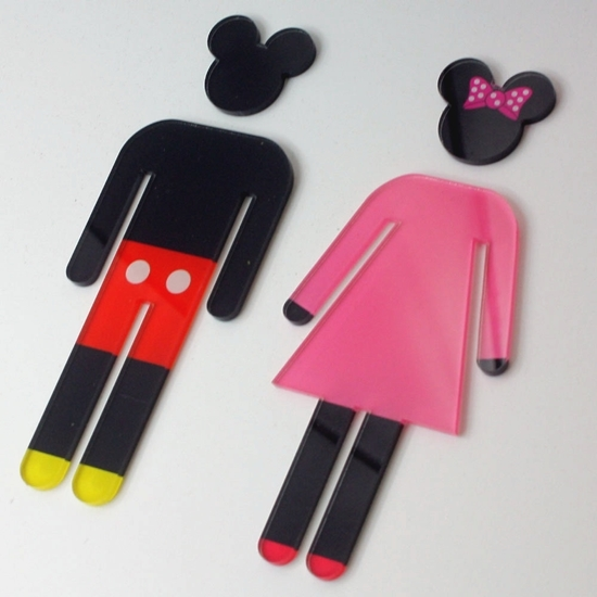 Picture of Mickey & Minnie Toilet Door signs