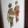 Picture of Toilet Door Man & Woman Symbol, Bathroom Sign, Vintage Map Design