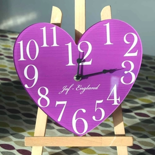 Picture of Vintage Heart Shaped Wall Clock