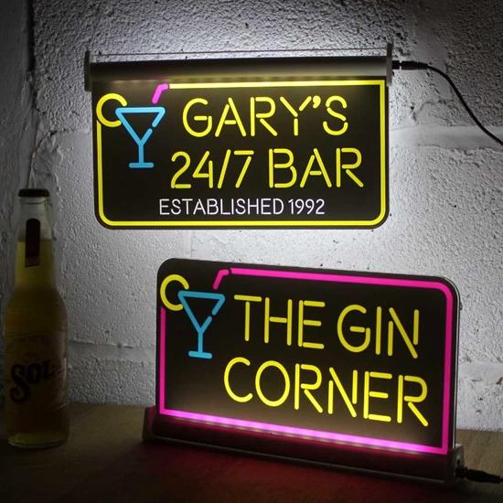 JAF Graphics. Personalised Light up Bar Sign