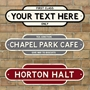 Picture of Personalised Rusty Vintage Railway Totem Station Sign