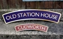Picture of Arched Vintage Style Railway Train Name Plaque
