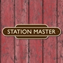 Picture of STATION MASTER Sign Railway Totem