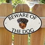 Picture of Rottweiler Beware of The Dog Gate Sign