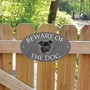 Picture of Staffordshire Bull Beware of The Dog Gate Sign