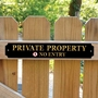 Picture of Private Property, No Entry Sign