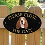 Picture of Basset Hound Gate Sign