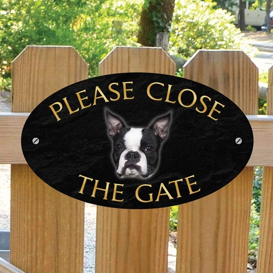 Picture of Boston Terrier Gate Sign