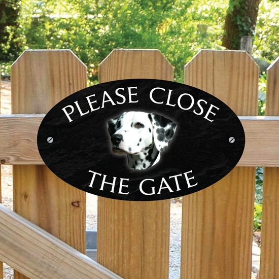 Picture of Dalmatian Gate Sign