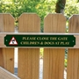 Picture of Children & Dogs Safety Sign
