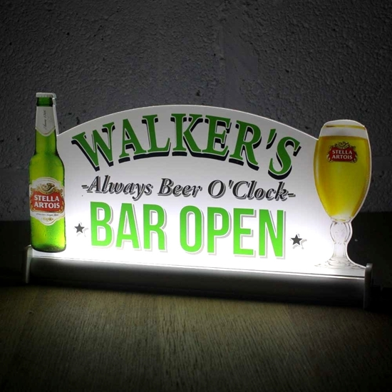 JAF Graphics. Light-up Bar Sign with pint and bottle logo