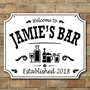Picture of Personalised Pub Beer Bar Sign