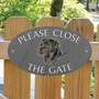Picture of Please Close The Gate Sign, BROWN LABRADOR