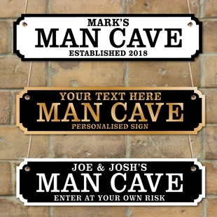 Picture of Personalised Man Cave Vintage Custom Road Sign