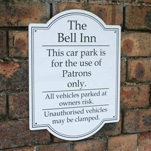 Picture of Patrons Only Car Park Sign - Portrait