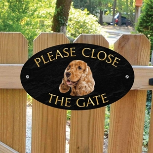 Picture of Cocker Spaniel Gate Sign