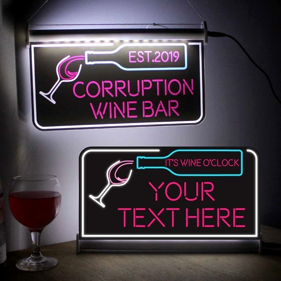 Picture of Wine Bar Neon effect Bar Light