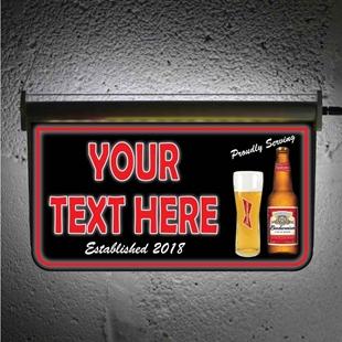 Picture of Custom Light up Bar Sign - Budweiser