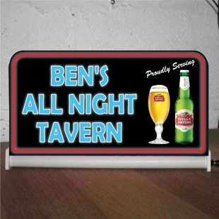 Picture of Custom Light up Bar Sign - Stella