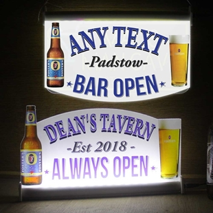 Picture of Light-up Bar Sign with Fosters pint and bottle