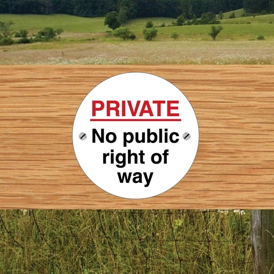 Picture of Private Land Signs 2 PACK