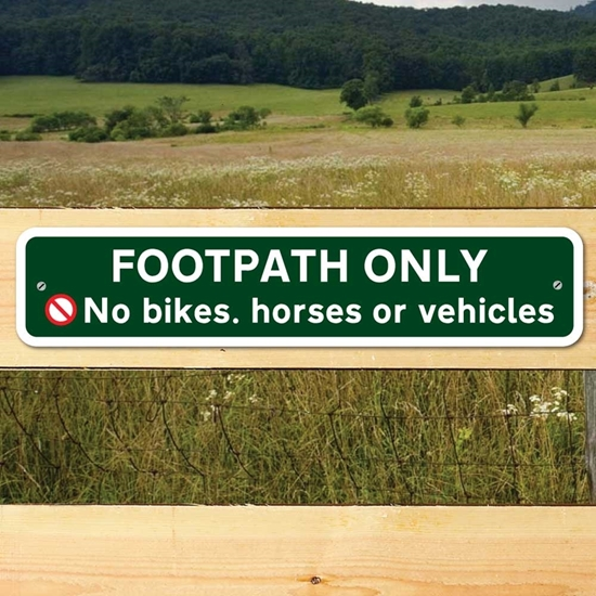 Picture of FOOTPATH ONLY  SIGN