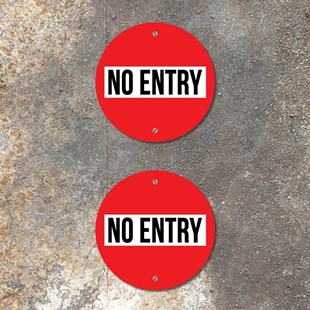 Picture of NO ENTRY Signs 2 PACK