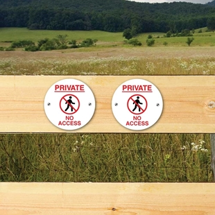 Picture of PRIVATE NO ACCESS SIGNS - 2 PK