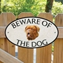 Picture of French Mastiff Beware of The Dog Sign