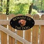 Picture of Rhodesian Ridgeback Beware of The Dog Gate Sign