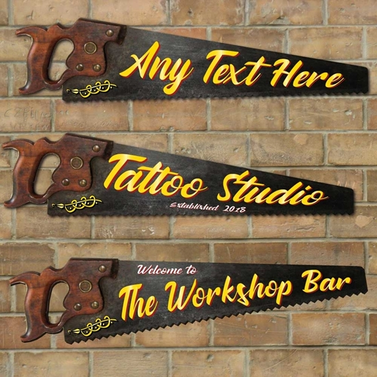 Picture of Personalised Tattoo Saw Sign