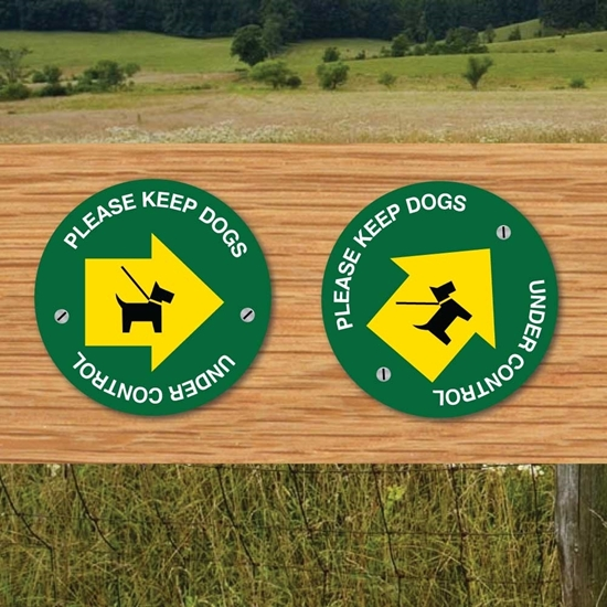 Picture of Footpath Way Marker CONTROL DOGS -2PK