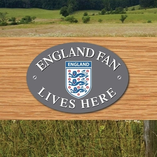 Picture of ENGLAND FAN LIVES HERE House Door Plaque