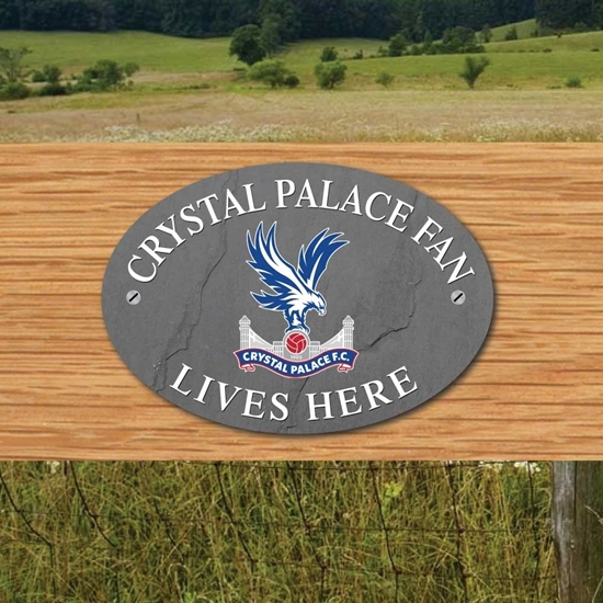 Picture of Crystal Palace FAN LIVES HERE Gate Plaque