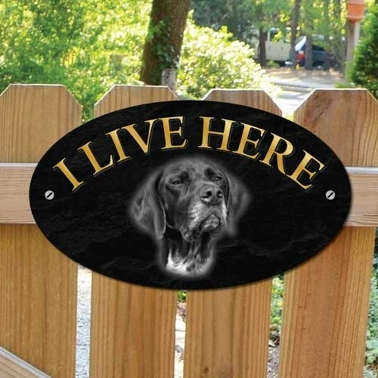 Picture of GERMAN POINTER Dog Gate Sign